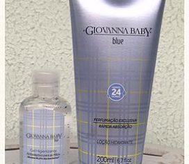 Loção Hidratante e Gel Higienizante Giovanna Baby Blue