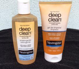 Limpando a pele com Neutrogena Deep Clean