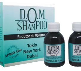 D.O.M Shampoo proporciona madeixas lisas, hidratadas e com muito brilho.