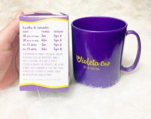 Violeta Cup Tamanhos