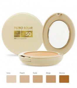 Filtro Solar Tonalizante FPS 50 Pó Compacto da Adcos.