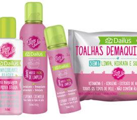 Dailus Color lança linha de demaquilantes Tira Tudo na Beauty Fair!