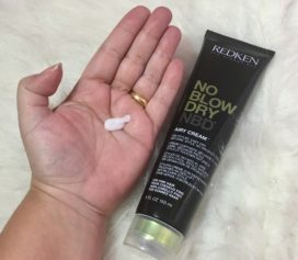 Testei o Redken No Blow Dry Leave In.