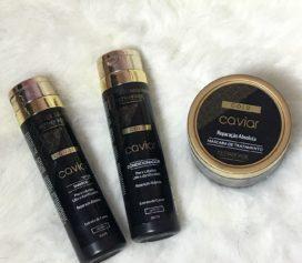 Testei a linha Caviar Gold Kera + Brasil.